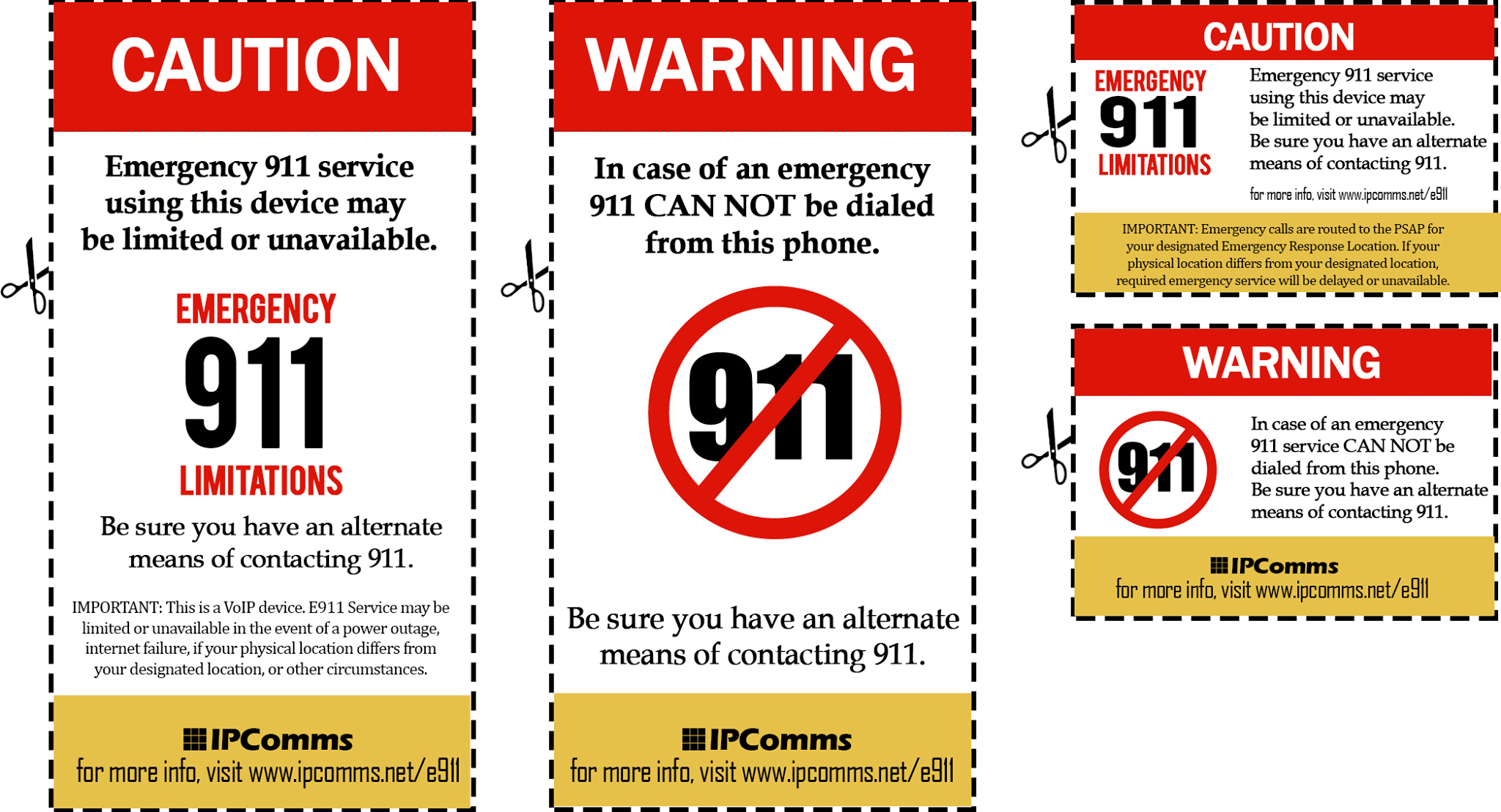 IPComms Emergency 911 Services